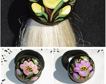 Handmade Jewelery hair accessories womens gift|for|her Wife gift|for|women birthday gift Girlfriend gift Wooden Jewelry Hand Painted Wood