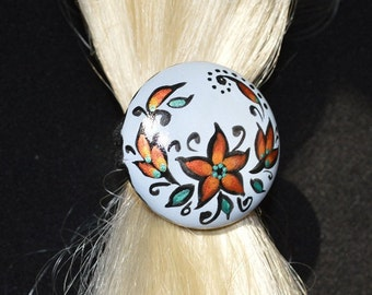 ponytail holder hair accessories, Scrunchy mom Gift for her Handmade wedding jewelry holiday gift Mother's Day Wooden Jewelry Ethnic Art eco