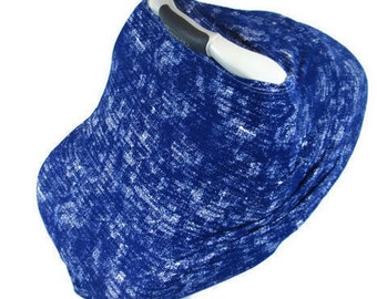 Blue Nursing Cover Car Seat Canopy For Boy Carseat Covers Baby Shower Gift