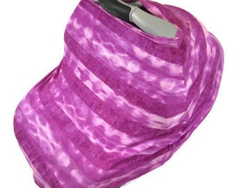 Pink Carseat Canopy Stretchy Car Seat Cover Nursing For Girl Gift Mom Baby Poncho Tie Dye