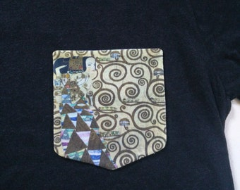 Expectation Pocket Tee Shirt (Gustav Klimt)