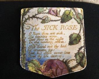 """William Blake """"Sick Rose"""" Pocket Shirt"""