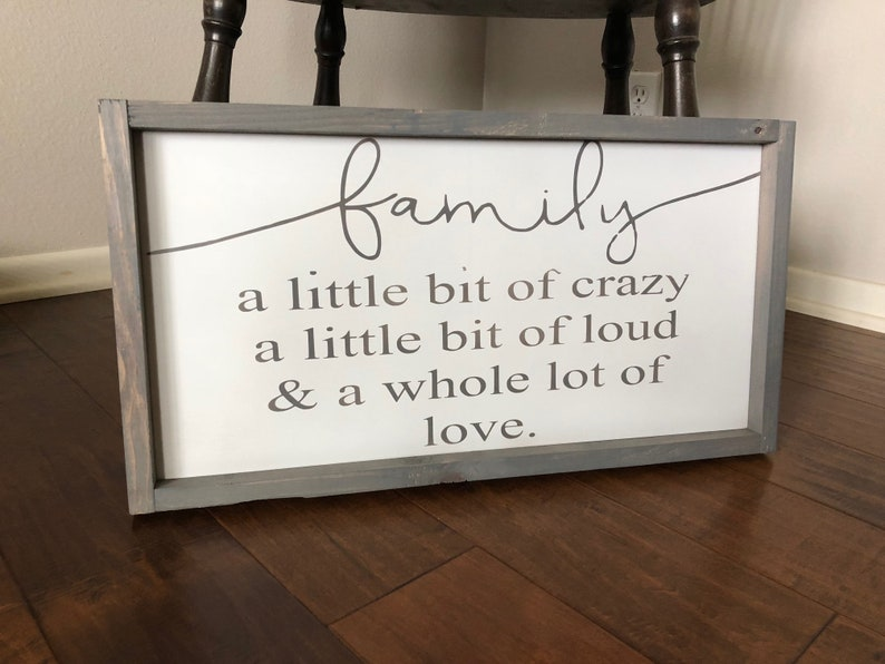 a little bit of loud and a whole lot of love,Farmhouse Family Signs,Entryway Decor,Welcome Sign,Home Decor Family a little bit of crazy