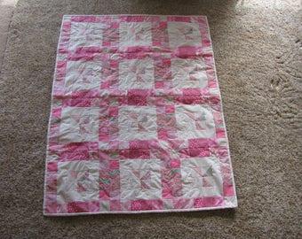 Blue or Pink Baby Pinwheel Quilt