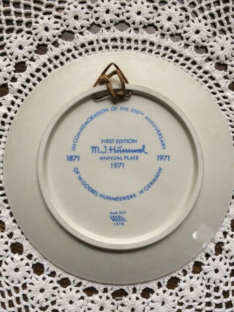First Ed 1971 M.J NO Box Hummel Plate