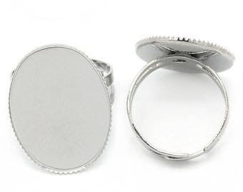 2 support ring adjustable oval tray (pr 25x18mm)