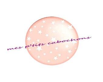 18 mm - nice Ref star glass cabochon