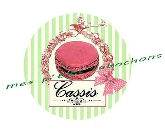 20 mm - nice Ref cassis glass cabochon