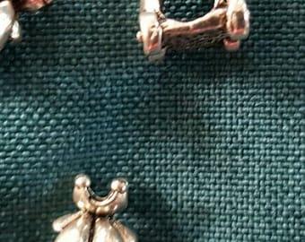 1 x spacer / connector Tibetan silver Cinderella pumpkin carriage large hole