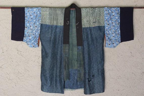 Vintage Japanese reversible silk kimono jacket