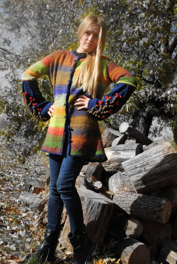 boho sleeves knit spring Stripe coat coat sweater bright cardigan pom women sweater Wool long with knit cardigan oversize cardigan pom knit Awqxg4