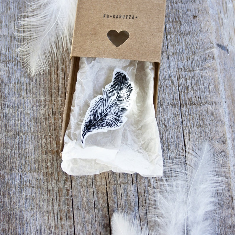 Feather Brooch,Writers Badge,Hippie Brooch,Boho Chic Rustic,Spring Fashion 2016,Laser cut feather,Illustration Brooch,For Her,Original Gift