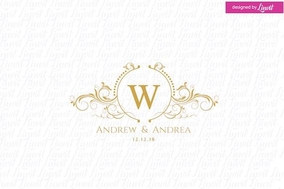 premade wedding logo wedding logo wedding monogram logo Luxury Wedding Logo custom wedding logo custom luxury logo gold logo