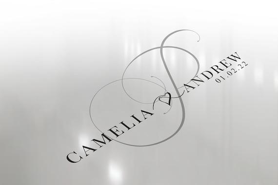 Text Only Logo Design Calligraphy logo Couples logo for wedding Wedding Monogram Wedding Svg Monogram svg Wedding logo Gobo
