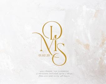 Wedding Svg, Monogram svg, Calligraphy logo, Text Only Logo Design, Couples logo for wedding, Wedding logo, Wedding Monogram , Gobo