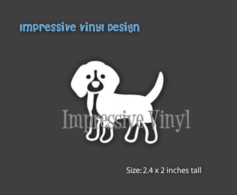 01e56e7f462b Stick Family Custom Vinyl Black or White Beagle Dog Decal