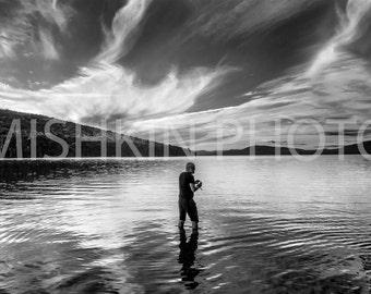 Appalachian Trail: Sunset at Flagstaff Lake, NH