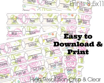 picture about Free Printable Bible Tabs named Printable bible tabs Etsy