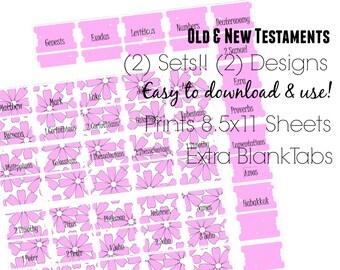 Bible Tabs - Printable Bible Tabs - Bible Journaling tabs - Bible Journaling - Tabs for Bible - Inspire Bible Tabs