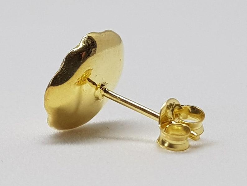 Gold-Plated Lotus Seedpod Stud Earrings