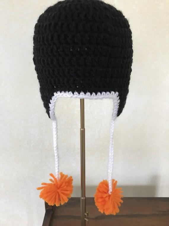 Sombrero de pingüino infantil blanco y negro sombrero con | Etsy