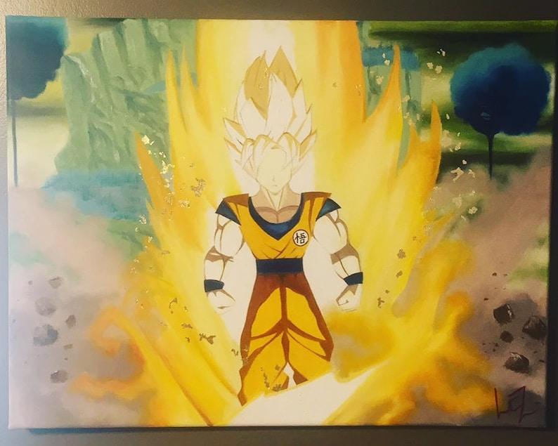 Dragonball Wall Art Gift For Boys Super Saiyan Birthday