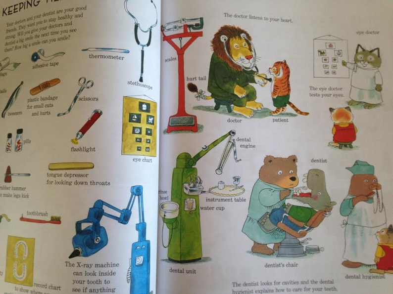 Golden Book Richard Scarry Best Word Book Ever - early reading- nursery  gift- picture storybook