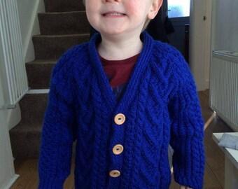 52ee511ba newborn baby boy hand knitted jacket blue baby