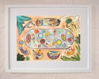 Feast Alfresco - Outdoor Dining Artwork Print