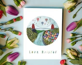 Love Bristol Greeting Card with envelope