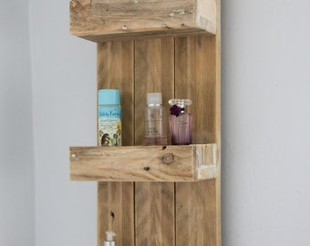 rustic bathroom shelves made from reclaimed pallet wood - Rustic Bathroom Mirrors