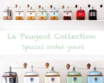 1950's Peugeot French Coffee Mill - Fully Restored - Deposit for Special Order -
