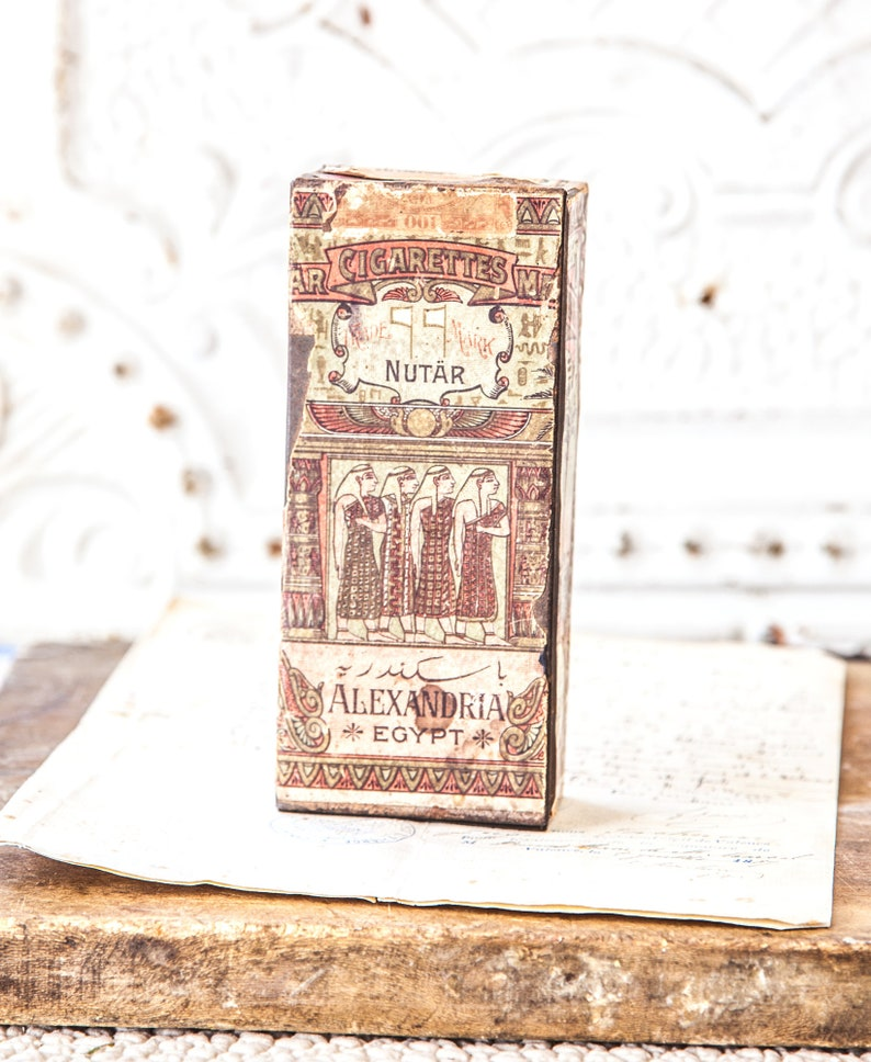 Antique English Cigarette tin  Nutar Trade Mark image 0