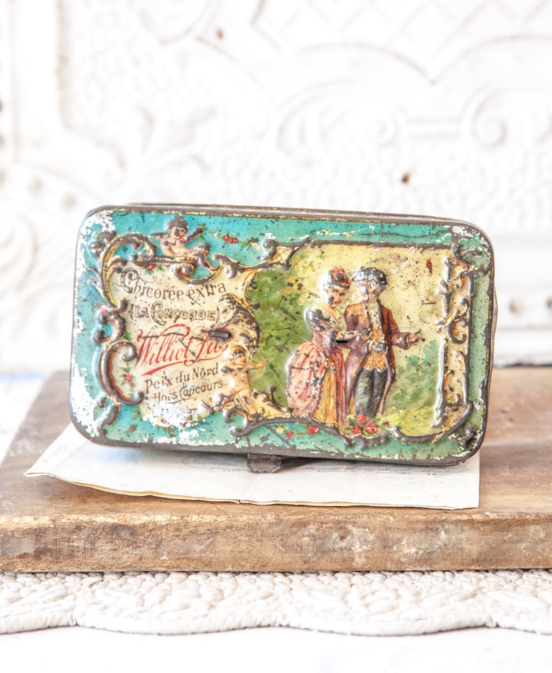 Antique French Advertising Embossed Tin  Williot Fils image 0