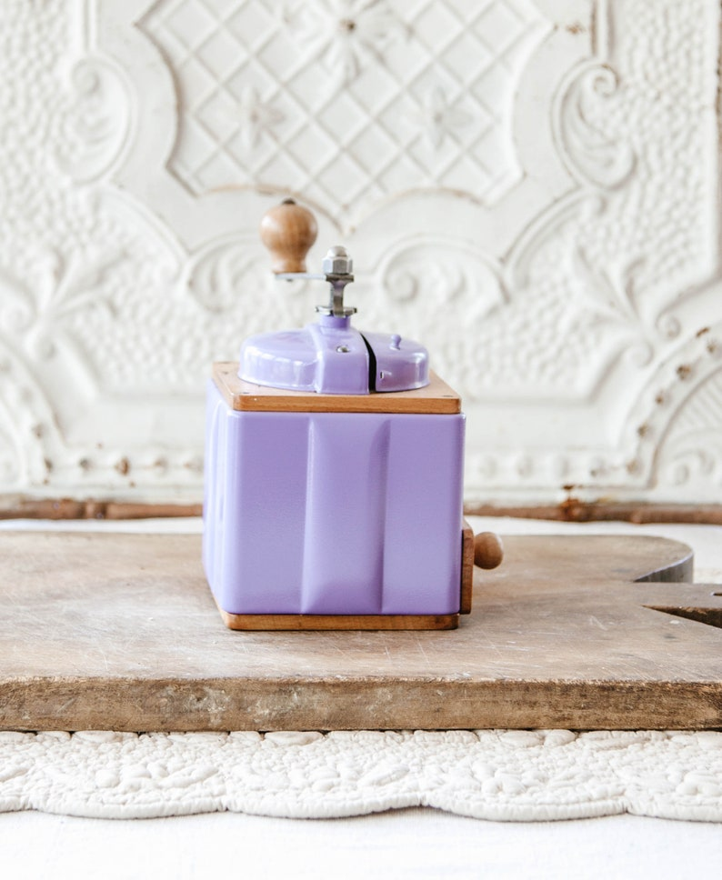 1950/'s Peugeot French Coffee Grinder Fully Restored Sweet Lavender Color French Coffee Mill