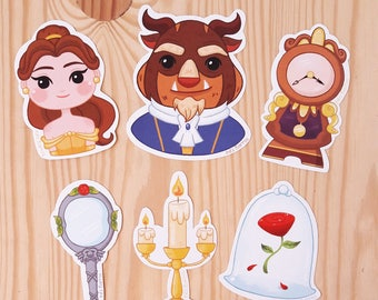 Beauty and the Beast Sticker Pack
