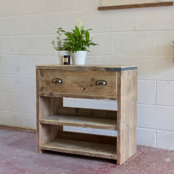 GEORGI | Reclaimed Wood Bathroom Vanity Unit | Handmade | Bespoke | Modern Rustic Farmhouse Bathroom Furniture