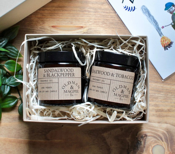 Gift Box | 2 X 100% Pure Soy Wax 120ml Candles - Hand Poured + Vegan Friendly