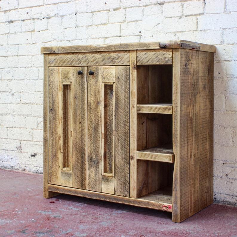 JOHNA  Reclaimed Wood Vanity Unit image 0