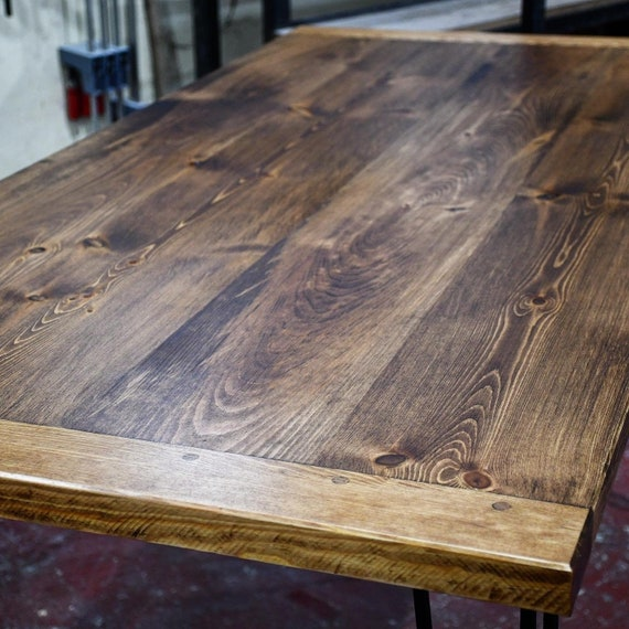 CARSON   Rustic Solid Wood Desk Top / Dining Table Top / Top Only