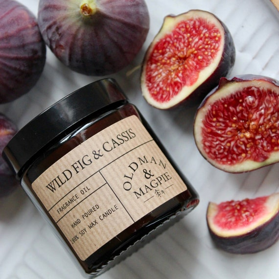 WILD FIG & CASSIS | 100% Natural Soy Wax Candle - Hand Poured + Vegan Friendly