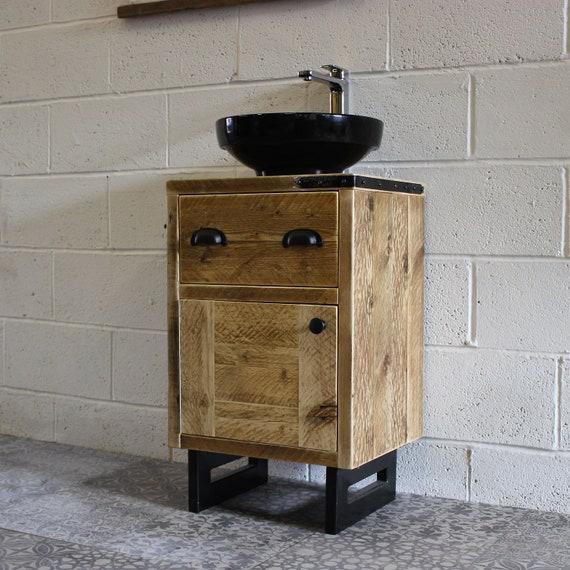 LOLA | Bathroom Vanity Unit | Handmade Bathroom | Bathroom Decor Industrial Farmhouse Rustic Industrial Vanity Unit - Ready To Ship