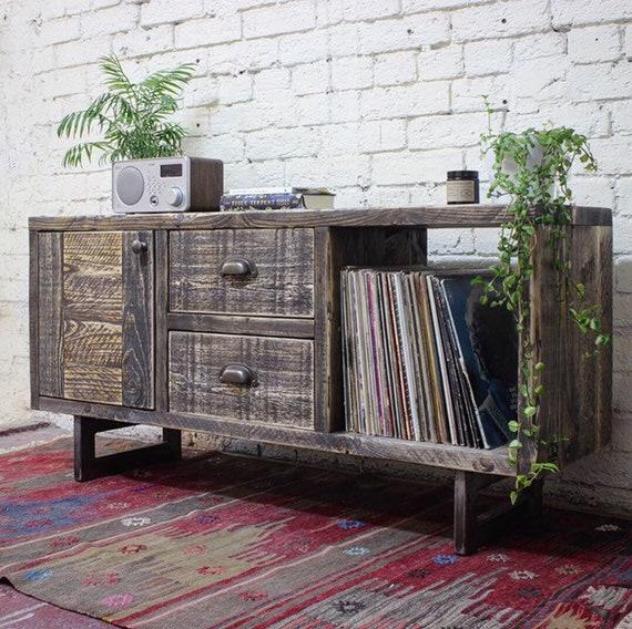 SETH | Reclaimed Wood Side Table / Storage unit