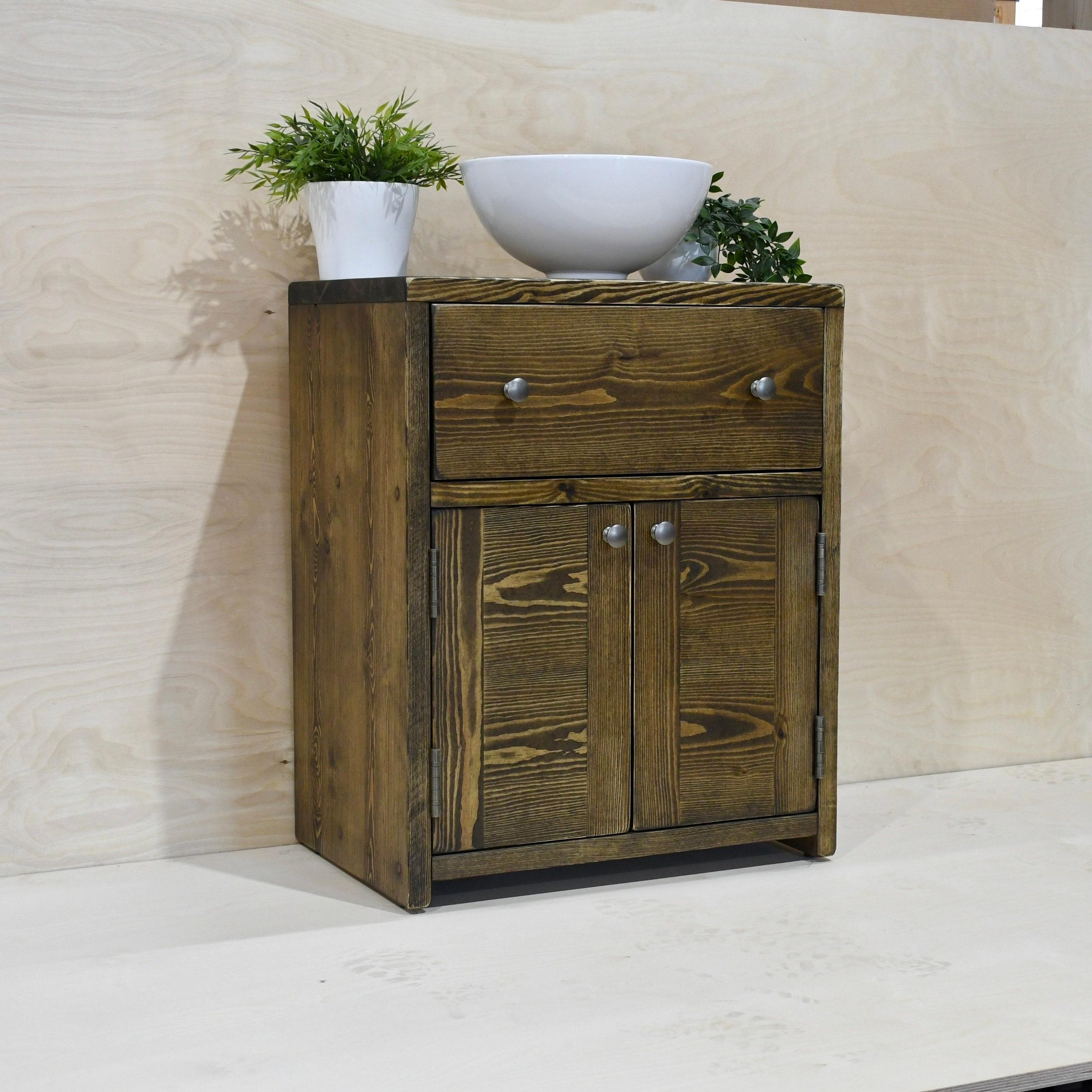 Gregory Solid Wood Bathroom Vanity Unit, Handmade Bathroom Vanity