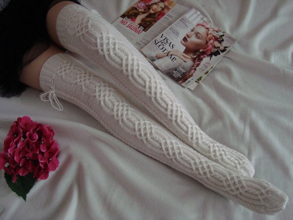 Women Socks Over Knee Vintage Mandalas Pattern Winter Customized For Gift
