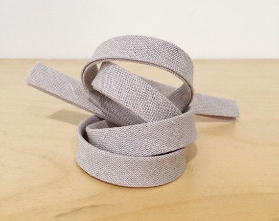 "Bias Tape- Robert Kaufman Essex Linen Cotton in Heather 1/2"" double-fold binding- Lavender- 3 yard roll"
