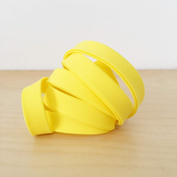 "Bias Tape- Kona Bright Idea bright yellow cotton 1/2"" double-fold binding- 3 yard roll"