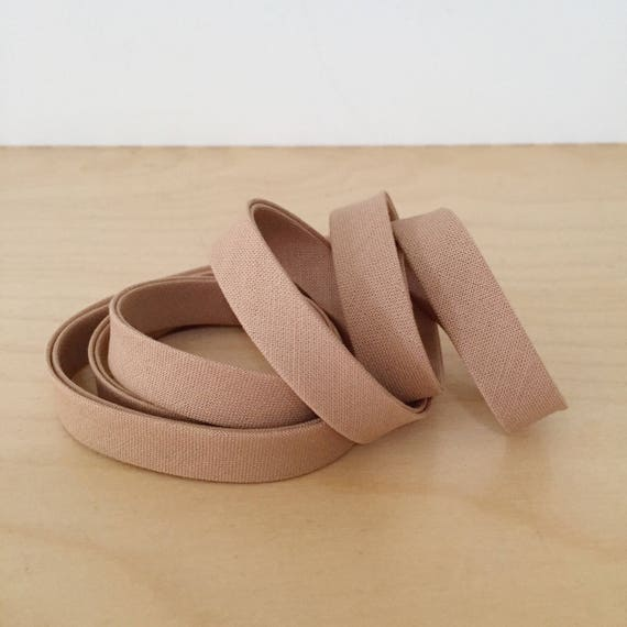 "Bias Tape in Kona Latte cotton 1/2"" double-fold binding- Light Chocolate Milk Brown- 3 yard roll"
