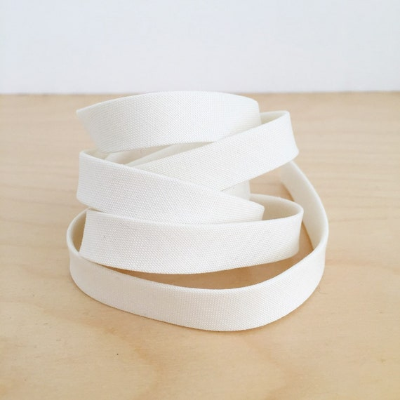 "Bias Tape in Kona Bone ivory white cotton 1/2"" double-fold binding- 3 yard roll"