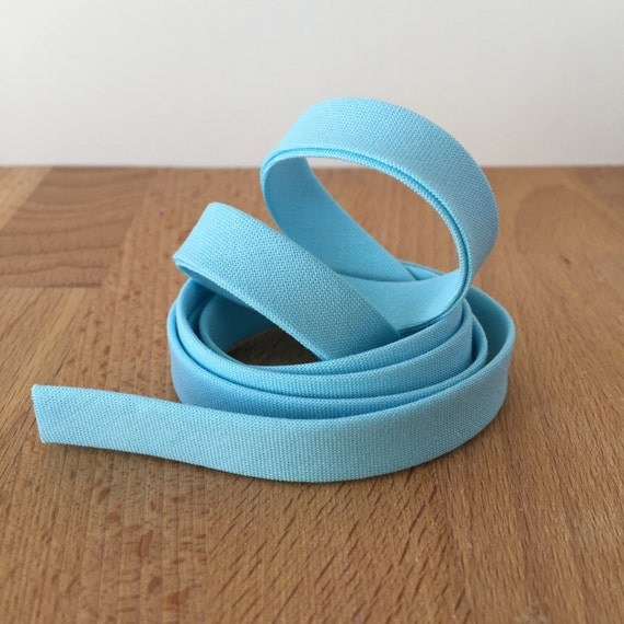 "Bias Tape in Kona Robin's Egg blue cotton 1/2"" double-fold binding- 3 yard roll"
